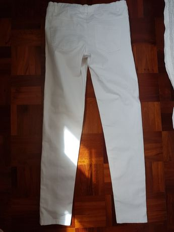Calça menina branca 13/14 anos