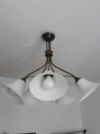 Żyrandol Art Deco z mosiądzu