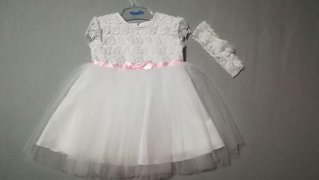 Biała sukieneczka 74-86