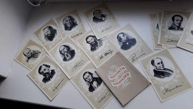 Набор открыток Портреты писателей