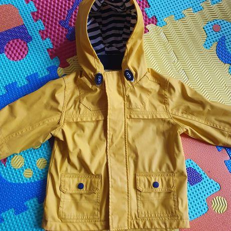 Прорезиненая куртка, дождевик, 98 см + кофта толстовка худи в подарок