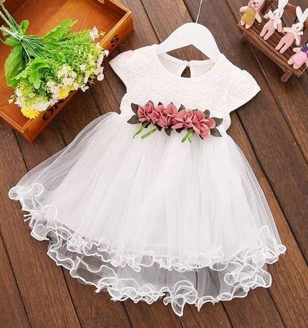 Biała sukienka r. 80
