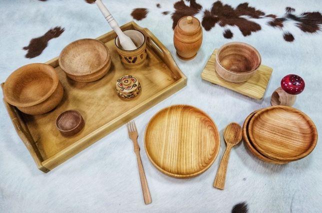 Посуда из дерева для дома, ресторанов, пабов, кафе, баров