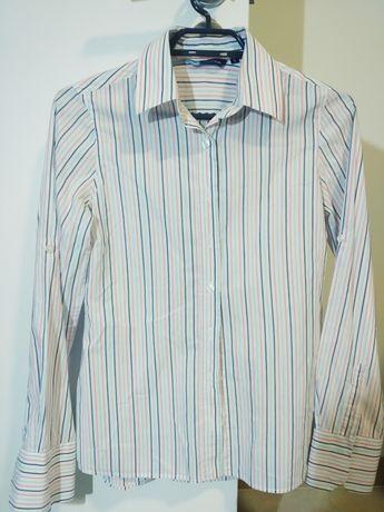 Camisa Quebramar branca riscas rosa e azul - Mulher tamanho S