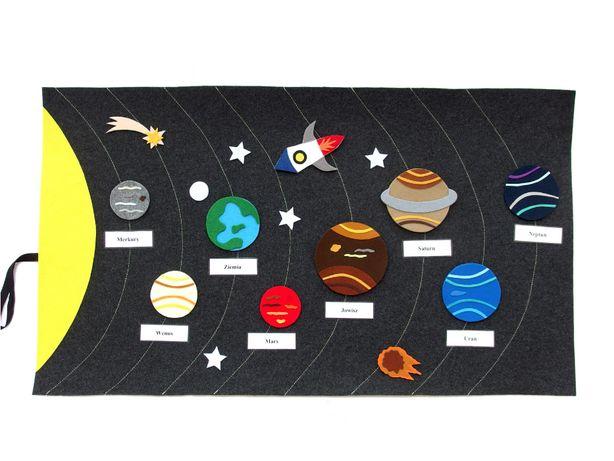 Mata filcowa kosmos, Montessori, zabawka edukacyjna, pomoc dydaktyczna