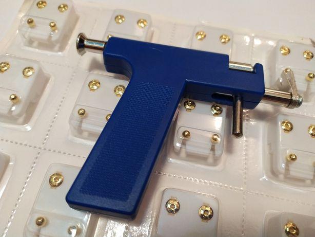 Пистолет для прокола ушей + гвоздики