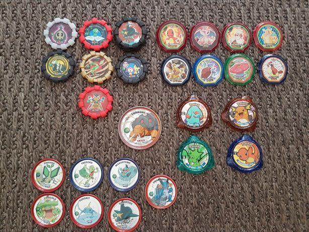 Tazos Pokémon várias coleções