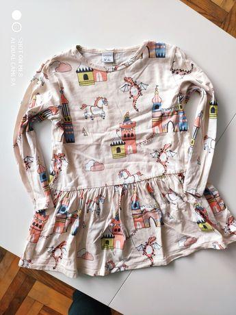 Bluzka tunika lindex roz 110 cm