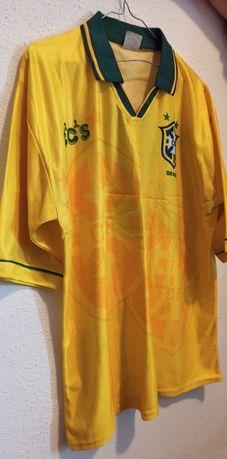 t-shirt futebol brasil coleção