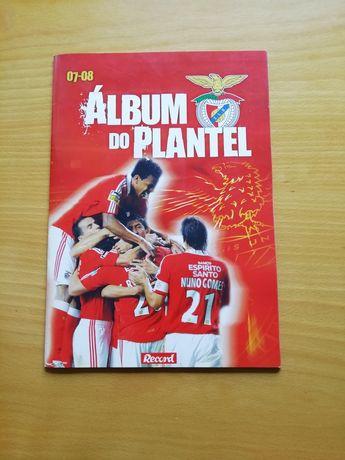 Caderneta do plantel do Benfica 07-08 - completa