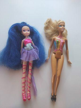 Lalka która ma piekne długie niebieskie włosy plus gratis