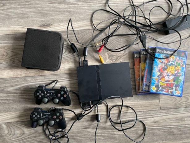 PS2 SLIM przerobione + Gry Dragon Ball + Klaser z kopiami Gier