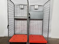 Wózek z HAMULCEM Gniazdowy Transportowy Kurierski Pocztowy 80x80x190cm