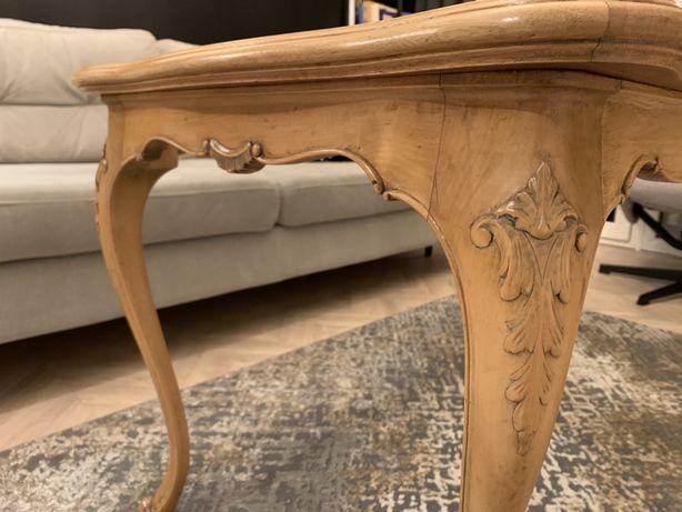 Stolik kawowy drewniany, ława, antyk