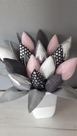 Tulipany Glamour PROMOCJA bukiet kwiatów prezent dekoracja srebrne