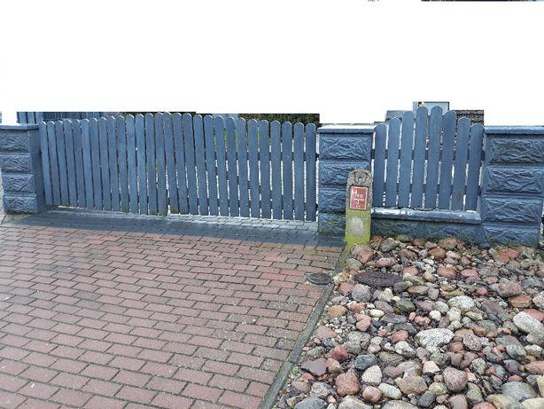 Ogrodzenie drewniane płot .