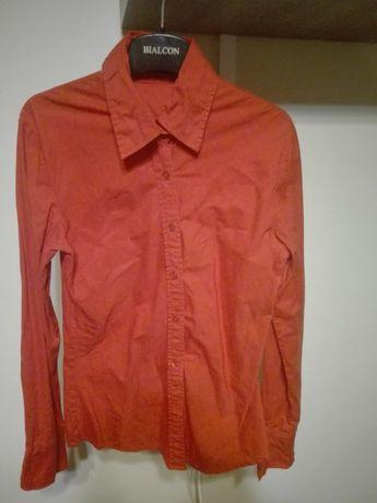 Koszula z długim rękawem czerwona
