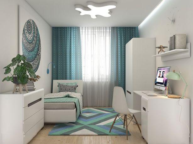 Детская комната: кровать, шкаф, стол, полка, комод. Доставка бесплатно
