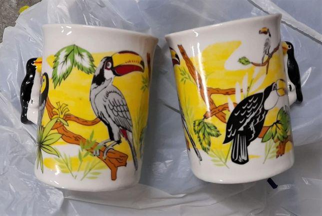 Par de canecas tucanos (Brasil, nunca usadas)