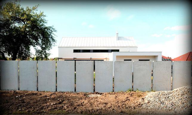 Mur betonowy, beton architektoniczny, Ogrodzenie betonowe