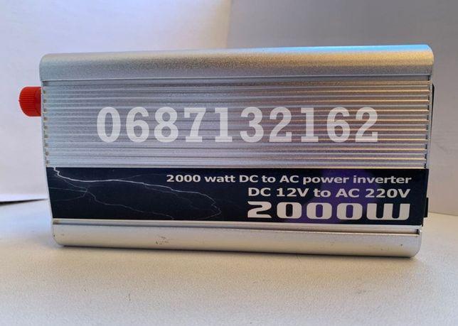 Преобразователи напряжения (Авто-Инвертор) 12-220V 2000W