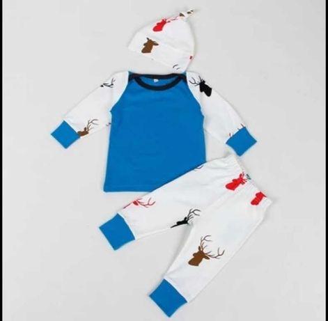 Piżama dziecięca - trzyczęściowa - jelonek