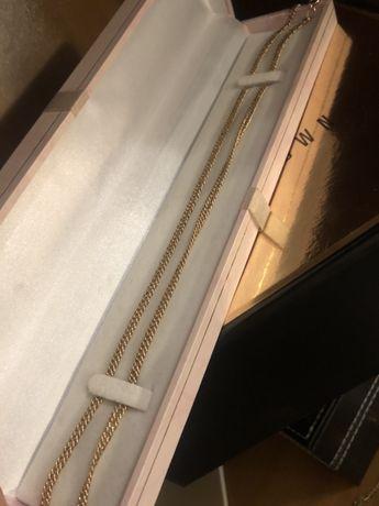 Серебряная цеаочка в позолоте. Лазерная точка. 45см, и 50