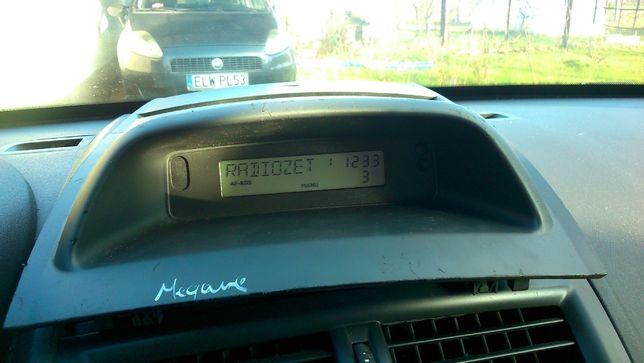 panel radiowy megane 2