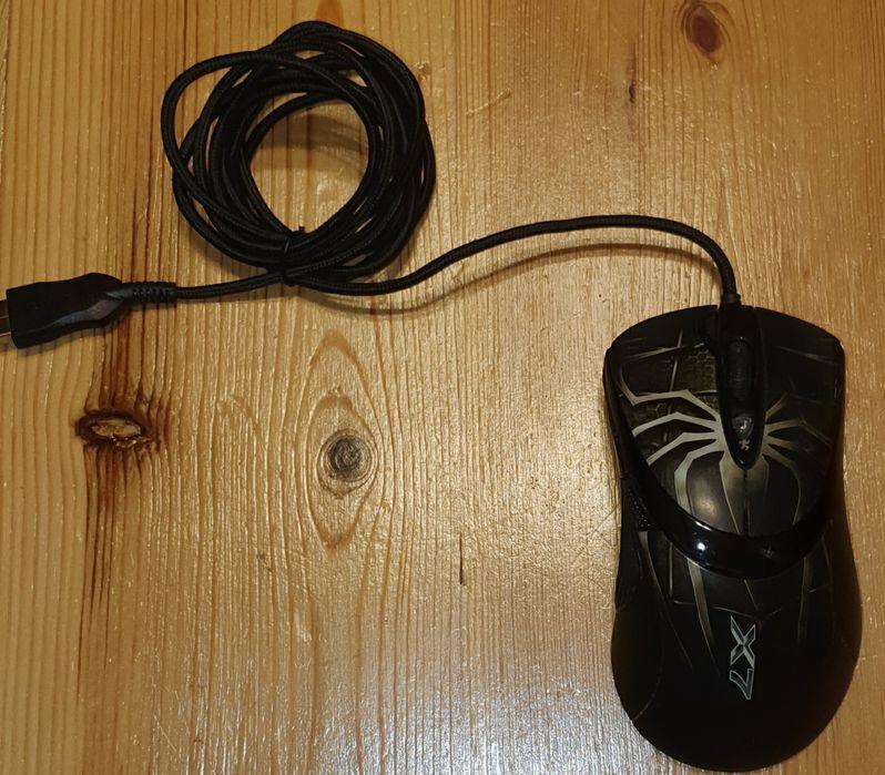 Mysz laserowa komputerowa PC A4Tech Oscar X747 Brown Fire USB sprawna Warszawa - image 1