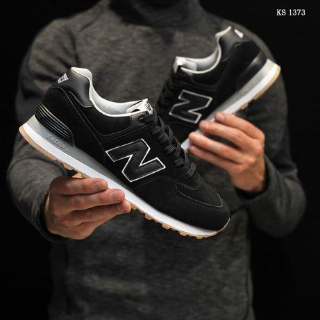 New Balance 574 (черные) замша