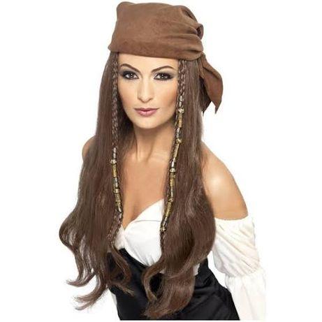 Peruca de pirata castanha para mulher NOVA!!!