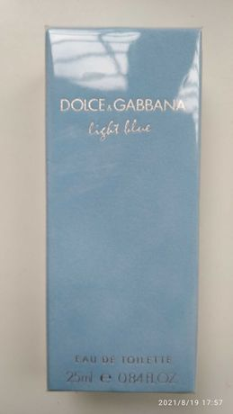 Light blue Dolce&Gabbana туалетная вода.Франция