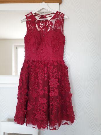Sukienka wizytowa  koronkowa s