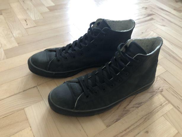 Czarne trampki Converse skórzane z ociepleniem 46,5