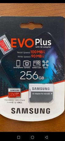 Карта памяти(Флешка) Samsung 256 Evo + adapter