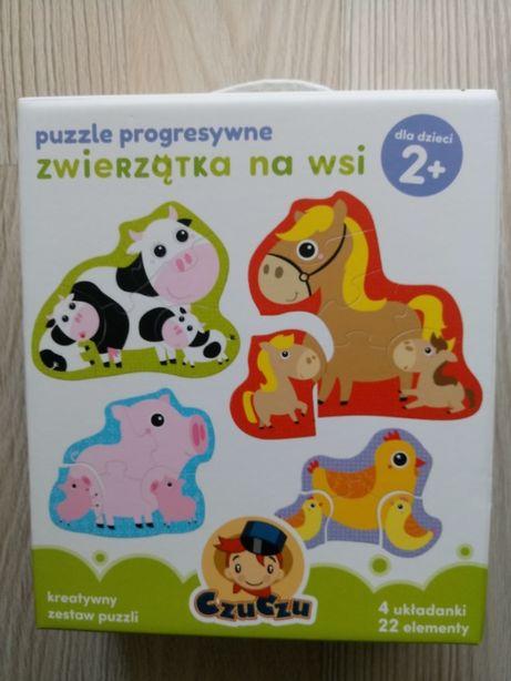 Czuczu - puzzle progresywne zwierzątka na wsi