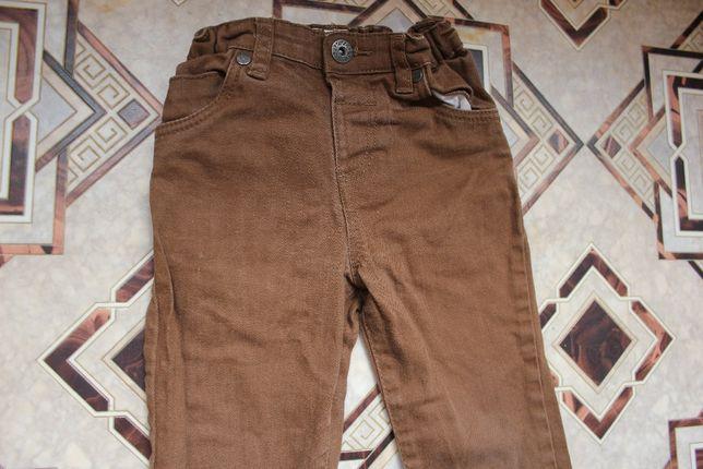 Брюки штаны джинсовые коричневые на мальчика 3-4 года