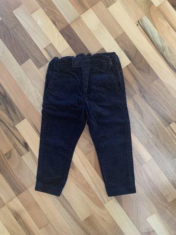 Eleganckie sztruksowe spodnie H&M czarne 92