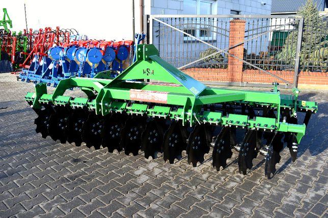 Brona talerzowa AGRO-SON 3m. Kompaktowa