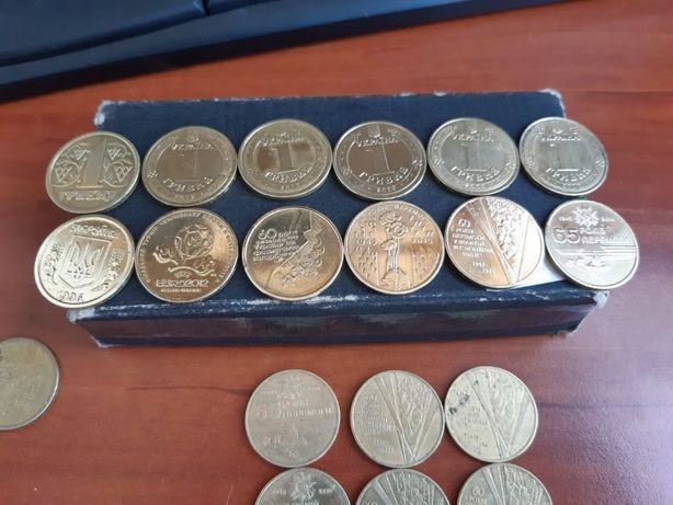 1 гривна Украина Юбилейные монеты 60 65 70 лет Победы