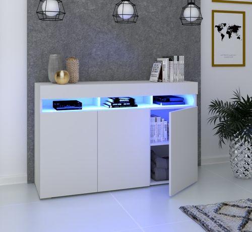 Szafka Komoda Luna 3D Biała Sonoma Craft Ledy