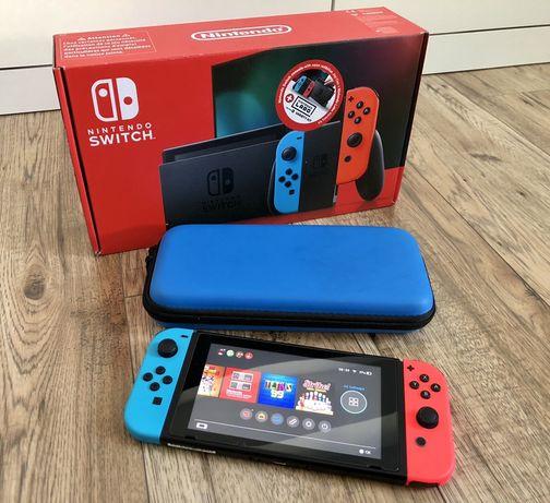 Nintendo Switch Neon V2 jak nowa + Gwaracja