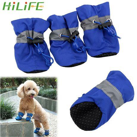 Hilife sapatos antiderrapantes para cachorros, 4 peças de sapatos com
