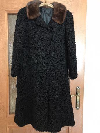 Prawdziwa Karakuła,czarny zimowy płaszcz Polecam!
