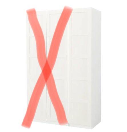 Słupek Pax drzwi Bergsbo Ikea