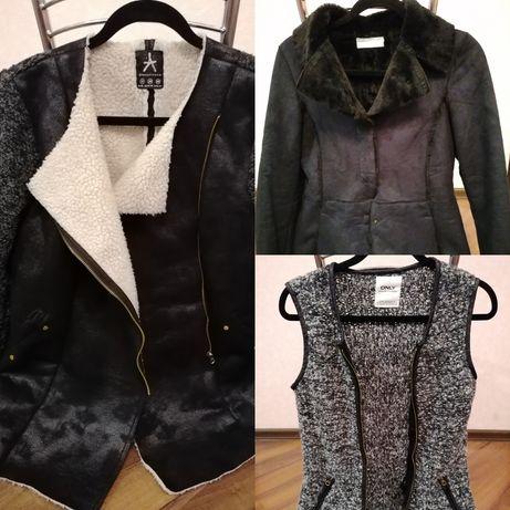 Куртка ветровка жилетка искусственный мех женская