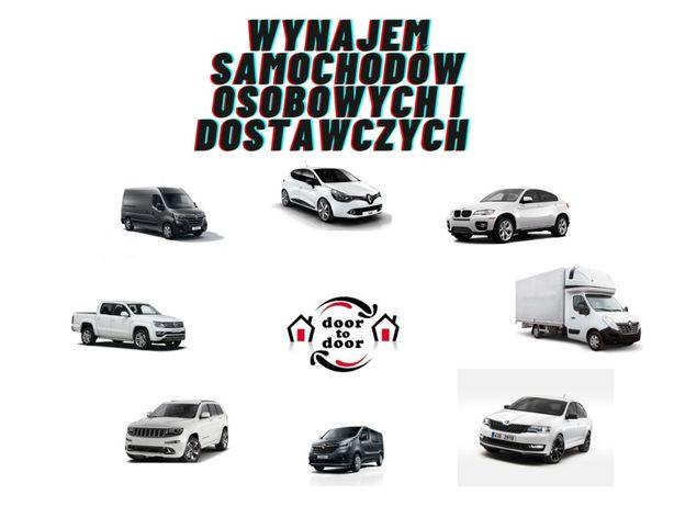 Wypożyczalnia samochodów osobowych/ Wynajem/Tanio/ busy do 3,5t