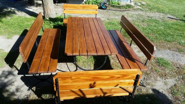 Skladany zestaw ogrodowy - stół i 4 ławki (nowy)