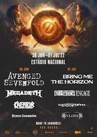 VOA Heavy Rock Festival - 3 Bilhetes 30 JUNHO 2022