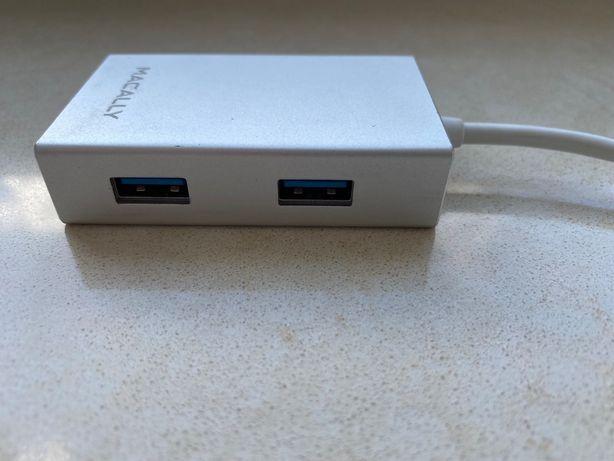 Мультипортовий адаптер хаб Macally USB-C hub 4xUSB 3.0 UC3HUB